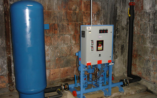 Turnkey retro-fitted booster pump system-Tigerflow (duplex variable speed)